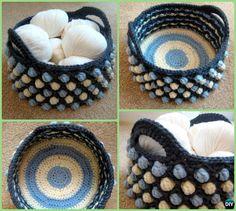 DIY Crochet Honeycomb Pop Storage Basket Free Pattern