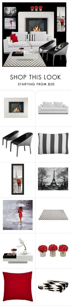 """""""Living room luxury"""" by yvette-colon ❤ liked on Polyvore featuring interior, interiors, interior design, home, home decor, interior decorating, Harbour Outdoor, Modloft, Pier 1 Imports and WALL"""