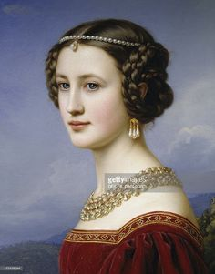 View top-quality stock photos of Portrait Of Cornelia Vetterlein 1828 Painting By Joseph Karl Stieler Oil On Canvas Cm. Find premium, high-resolution stock photography at Getty Images. Old Paintings, Beautiful Paintings, Mode Renaissance, Italian Renaissance, Renaissance Portraits, Classical Art, Portrait Art, Portrait Paintings, Woman Portrait