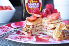 Lemon Mascarpone Pancakes with Valentines Funfetti recipe pictures