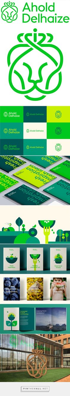 Brand New: New Logo and Identity for Ahold Delhaize by Futurebrand - created via https://pinthemall.net