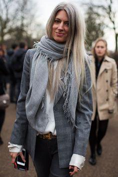 Sarah Harris of British Vogue, shot by the Sartorialist.