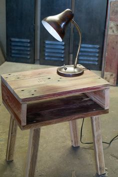 #Bedside, #PalletTable, #RecycledPallet