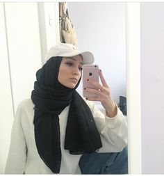 Pinned by @MUSKAZJAHAN Modesty Fashion, Hijab Fashion, Fashion Outfits, Islamic Fashion, Muslim Fashion, Hijab Style Tutorial, Hijab Caps, Casual Hijab Outfit, Beautiful Hijab