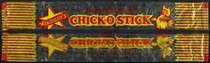 Atkinson's Chick-O-Stick cellophane candy wrapper - 1970's