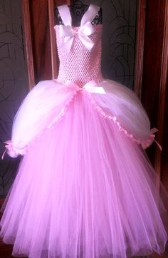 Pink Child Aurora Tutu Dress - Custom Tutu Dress - Sleeping beauty Costume - Pink Tutu - Tutu Dress via Etsy