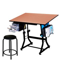 Offex U0027Ashleyu0027 Drafting And Hobby Craft Table With Stool