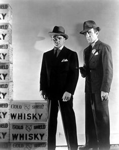 THE ROARING TWENTIES (1939) - James Cagney & Humphrey Bogart - Directed by Raoul Walsh - Warner Bros. - Publicity Still.