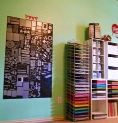 Groovin' with the Go to Gals: Creative Spaces to Love - neat way to store dies