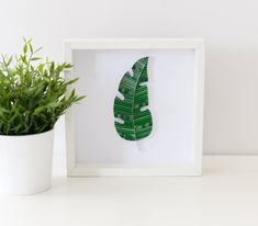 Green Banana Leaf Wall Art Quilling Framed Green Leaves Wall Decor Boho Home Decor Minimalist Wall Decoration Jungle Wall Art Modern Simple Leaf Wall Art, Framed Wall Art, Green Banana, Baby Room Art, Quilling Techniques, Paper Artwork, Home Decor Wall Art, Boho Decor, Art Forms