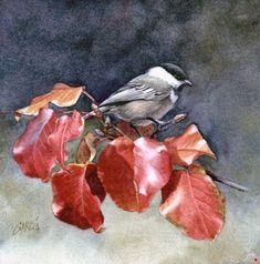 Joe Garcia Artworks Gallery - Chickadee watercolor