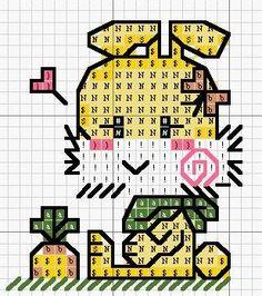♥Meus Gráficos De Ponto Cruz♥: Mini Bichinhos para Imãs de Geladeira