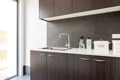 Daydream Laundry   Overhead Cupboards And Stone Benchtop. Good Looking  Laundry, Wish Mine Was