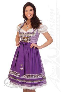 Kruger Dirndl costume Midi Dirndl 2 pcs.  - IRIS - 49526 - Purple