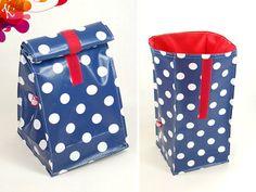 Brotbeutel & Lunchbags - Lunchbag mit Innenfutter - ein Designerstück von DieKunterbunten bei DaWanda