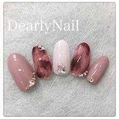 Luxury Nails – Great Make Up Ideas Beautiful Nail Art, Gorgeous Nails, Love Nails, Pink Nails, Pretty Nails, Cute Acrylic Nail Designs, Gel Nail Designs, Cute Acrylic Nails, Asian Nails