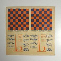 1939 New York World Fair checkerboard ephemera - cool!