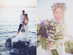 A blue Bohemian Wedding - Shannon & Josh | Flower Implementation by FABIO…