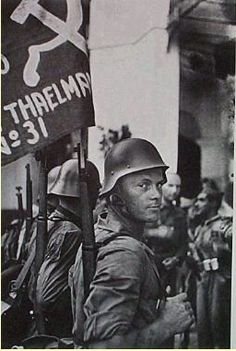"David ""Chim"" Seymour Members of the Thaelmann Brigade, an International Brigade Composed Primarily of Anti-Nazi Germans, the Spanish Civil War 1936"