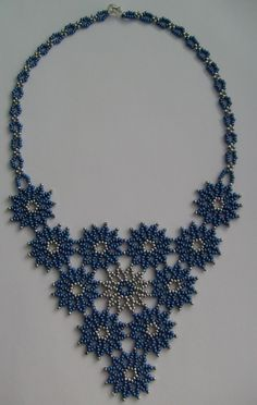 "Necklace ""Snowflakes"""