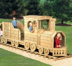 Outdoor Wood Projects | Get two woodworking plans to build both our Play Structure Locomotive ...