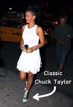 Rihanna wearing the Chuck Taylor Classic.
