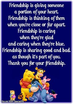 Pooh and friends 😘😘😘 Eeyore Quotes, Winnie The Pooh Quotes, Winnie The Pooh Friends, Bff Quotes, Disney Quotes, Friendship Quotes, Funny Quotes, Qoutes, Special Friend Quotes