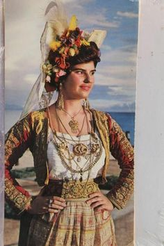Variations of a woman's costume from Metaxades in the Evros Gypsy Culture, Greek Culture, Greek Traditional Dress, Traditional Outfits, Dance Costumes, Greek Costumes, Greek Dancing, Costumes Around The World, Corfu Greece