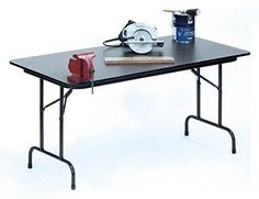 High Pressure Folding Table in Black Granite (30 in. x 48 in./Black Granite)