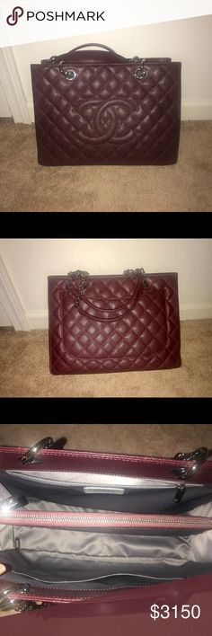 100% Authentic CHANEL Grand shopping tote Excellent condition! Firm price no trades! No smell, no signs of wear! No contact outside of posh! Yes it's Available until it' says sold! CHANEL Bags Totes