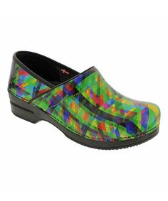 Look what I found on #zulily! Green Professional Tally Smart Step Leather Clog - Women by Sanita #zulilyfinds