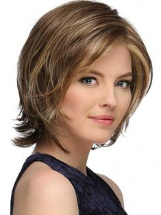 Monika by Estetica Designs - Lace Front Wig - The HeadShop Wigs Stacked Bob Hairstyles, Bob Hairstyles For Fine Hair, Medium Bob Hairstyles, Hairstyles Haircuts, Pretty Hairstyles, Hairstyles For Over 50, Medium Hair Styles, Curly Hair Styles, Bobs For Thin Hair