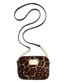 MICHAEL Micheal Kors Handbag Leopard Haircalf Crossbody