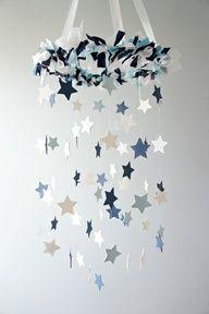 Star Mobile- Blue Nursery Mobile,