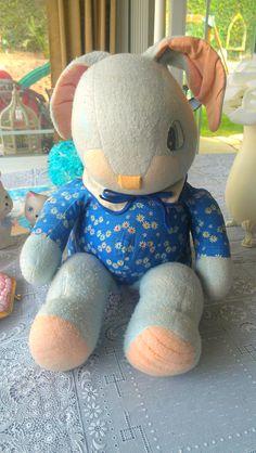 Stuffed Vintage Easter Bunny Rabbit Holiday Decor