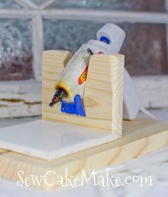 The Sew*er, The Caker, The CopyCat Maker: Hot Glue Gun Stands