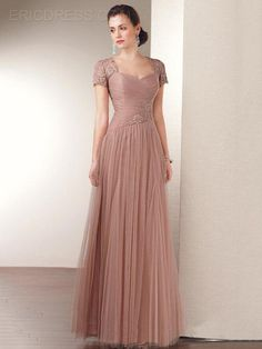 a4ea190cd8d Ericdress Elegant A-Line Short Sleeves Long Mother of the Bride Dress Mother  of the