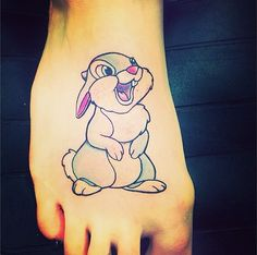 Haha. Disney inspired tattoos. I totally should get a thumper on my thumper