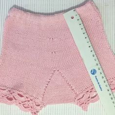 Baby Knitting Patterns, Lace Shorts, Crochet Top, Bb, Women, Fashion, Pink, Knitted Baby, Frilly Knickers
