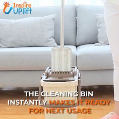 Self-Cleaner Magic Mop ? Keep your floors shining like day one with the Self-Cleaner Magic Mop! Great for wet and dry areas that need extra care! This Mop gives you the versatility to clean just about Cleaning Mops, Household Cleaning Tips, House Cleaning Tips, Diy Cleaning Products, Cleaning Solutions, Cleaning Hacks, Cleaning Checklist, Weekly Cleaning, Floor Cleaning Mop