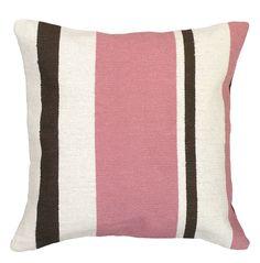 Graphic Stripes Needlepoint Wool Throw Pillow