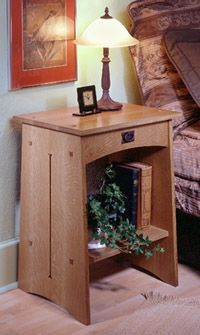Arts And Crafts Nightstand Woodworking Plan From Wood Magazine