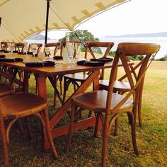 Beautiful setting with www.wildernest.co.nz rimu tables and www.onelovelyday.co.nz timber cross-back chairs and styling...