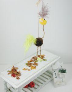 Dollhouse Miniatures, Marionette gelb braun,  Miniatur Maßstab 1:12 für das Puppenhaus, Puppenstube, Sammler von UllisKreativeEcke auf Etsy