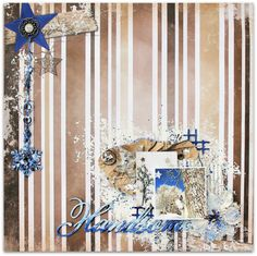 Scraps of Darkness scrapbook kits:Wilma Voermans created this amazing winter/holiday/goat layout using our December kit - Wilma's Winter Wishes. Find our kits at www.scrapsofdarkness.com