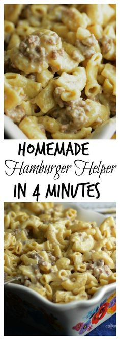 Instant Pot Hamburger Helper in 4 minutes