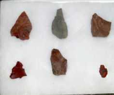 Arrowheads from the Tongva tribe. The Tongva village at the mouth of Big Tujunga Canyon was the largest Native American settlement in the Los Angeles area, and dates back to 435 A.D. Little Landers Historical Society. San Fernando Valley History Digital Library.
