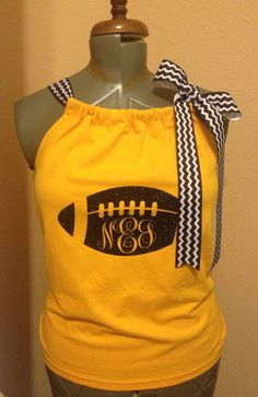 Custom Football Mom or Girlfriend Pillowcase Top - Spirit Shirt Made to Order by CreationsbyMelShop on Etsy