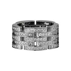 MAILLON PANTHÈRE RING White gold, diamonds - Named after the Panthère jewels Cartier's icon. The creature inspires the precious and supple movements of the chain that adorns the neck or wrist with sensuality.