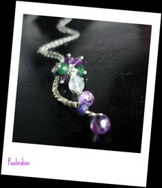 Sapphire necklace   Amethyst Green Onyx and Rainbow by Peelirohini, $39.00 #promofrenzy # necklace